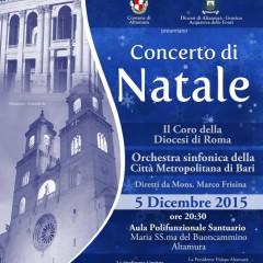 05 Dicembre 2015- Concerto di Natale diretto da Mons. Marco Frisina