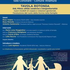 DDL Pillon- Affido condiviso e bigenitorialità – Tavola Rotonda 13 Ottobre 2018