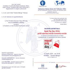 Equal Pay Day –  Incontro Distrettuale 23 Aprile 2016 – Potenza