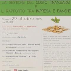 """FIDAPA partecipa al convegno """"La gestione del costo finanziario e il rapporto tra Impresa e Banca"""""""