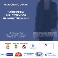 07/03/2014 Convegno Microcredito Donna