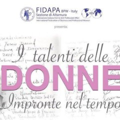 """I talenti delle Donne: """"Impronte nel tempo"""" – Venerdì 26 Febbraio 2016"""