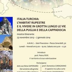 Mostra fotografica itinerante sull'habitat rupestre in Italia e Turchia